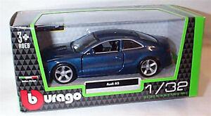 Audi A5 in Dark Blue Metallic 1:32 Scale Diecast  burago New in Box