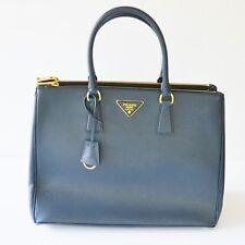New Prada 1BA786 F0216 Large Saffiano Lux Women's Tote Bag Baltico Navy Blue