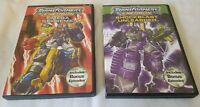 Lot Of 2 DVD Transformers Energon Omega Supreme And Shotblast Unleashed