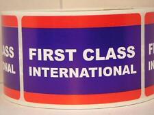 FIRST CLASS INTERNATIONAL USPS 50 cut/fold 2x3 labels stickers Trial Size set.