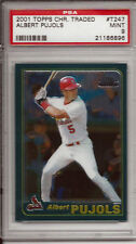 Albert Pujols Angels 2001 Topps Chrome Traded T247 Rookie Card rC PSA 9 Mint QTY