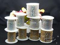 AB Crystal Rhinestone Chain Silver/Golden dress crafts bras sew on 10 yard