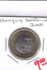From Show Inv. - A NICE UNC. BI-METAL 200 FORINT COINS from HUNGARY DATING 2009
