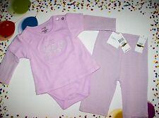 Calvin Klein Outfit Infant Girls Bodysuit/Pant 2pc Set Orchid  0-3 NWT