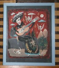La Raza Rebel Guitar Katrina Day of the Dead Winged Skulls Mexican Art by Velez