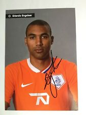 Autogramm ORLANDO ENGELAAR-Nationalteam-NS Holland-Ex-Schalke 04/PSV Eindhven-AK