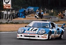 Michel Leclere SIGNED 12x8 Ligier-Maserati JS2   Le Mans 24hrs 1974