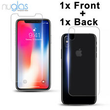 2x GENUINE NUGLAS Tempered Glass Screen Protector For Apple iPhone XS Max XR X