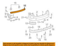Scion TOYOTA OEM 04-06 xB Rear Bumper-Impact Reinforcement Bar Rebar 5202352080