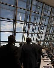 SPACE SHUTTLE ATLANTIS STS-129 NASA MANAGERS MONITOR LAUNCH  8X10 PHOTO (BB-384)