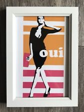 Framed Modern Pop Art Fashion Graffiti Style Print White Frame