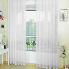 2 Panels Pair Of Rainbow Voile Slot Top Panels -Top Quality Net Voile Curtain