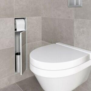 ESS Easy Drain Unterputz WC Bürstenhalter + Papierhalter Edelstahl geschliffen