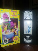 Barney In Concert VHS SING ALONG EDUCATIONAL VINTAGE AGES 2-8 FREE SHIPPING