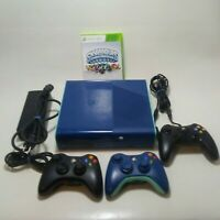 Microsoft XBOX 360E 500GB Blue & Teal Special Edition Bundle + Controllers/Game