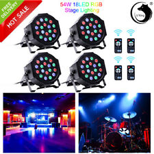 U`King 4PCS 54W Stage Lighting 18LED RGB DMX Remote DJ Wedding Party Show Light