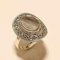 Natural Italian Pearl Shell Ring 925 Sterling Silver Valentine Fine Jewelry Gift