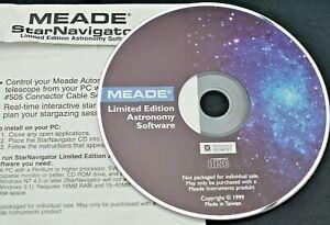 Meade StarNavigator Limited Edition Astronomy Software CD frühes Produkt f. ETX