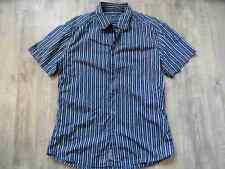 ESPRIT schönes gestreiftes Kurzarmhemd blau weiß Gr. M TOP 717