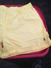 Polo Ralph Lauren Lined Mens Bathing Suit Bottoms Yellow w/ Navy Pony XXL NWT.