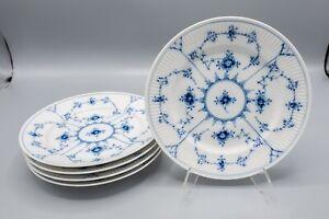 Royal Copenhagen Blue Fluted Plain Salad Plates 2nds Set of 5- 179 FREE USA SHIP