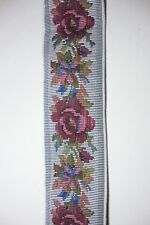"""Rose Floral Brocade Tapestry Trim Yard Woven Craft Ribbon 2 3/8"""" Wide"""