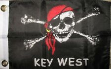 """12x18 12""""x18"""" Key West Jolly Roger Pirate SuperPoly Boat Flag"""