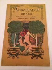 """Ambassador Theatre- """"Blossom Time"""" 1922 Playbill- Original And Complete"""