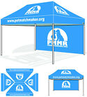 10'x15' Replacement Custom Top Printed Cover W/ Custom Back Wall For Canopy