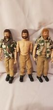 Lot of 3 GI JOE 1964 Red and Brown hair Action Figures, clothes Doll