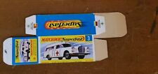 "Matchbox Superfast 3 Mercedes Benz Ambulance ""G Box"" Unfolded  BOX / Box Only"