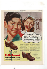 SEP 1945 LADIES' HOME JOURNAL POLL-PARROT STAR BRAND BOYS SHOES AD PRINT F561