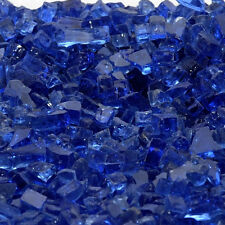 "**BLOWOUT** 10 Pounds Diamond Blue ""Fire Glass"" for Fireplace or Fire Pit"