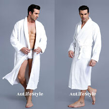 NEW LUXURY 100% COTTON TERRY TOWELLING BATH ROBE MEN & WOMEN ONE SIZE SOFT GOWN