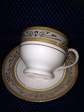 Casati Fine Porcelain Coffee Cup & Saucer  Geometric Design - Bavaria Germany