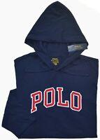New Small S Polo Ralph Lauren Mens T-shirt hoodie Navy blue hooded shirt top NWT