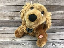 """Beverly Hills Teddy Bear Company Canine Crooners Animated Brown Plush Dog 8"""""""