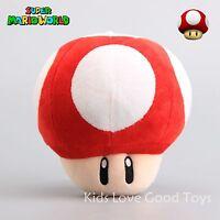 New Super Mario Bros Red Mushroom Plush Doll Soft Stuffed Figure Toy 6'' Gift