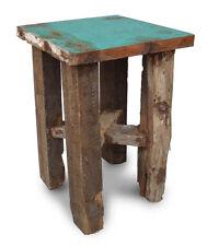 Trama grossa, Sgabello, TAVOLINO, recuperata e riciclata legno di Teak. mobili da giardino.
