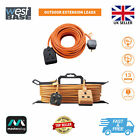 MASTERPLUG OUTDOOR GARDEN 10M 15M EXTENSION CABLE LEAD 1 GANG SOCKET 13 AMP