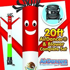 Mexican Flag Air Dancer ® & Blower 20ft Sky Dancer Complete Set