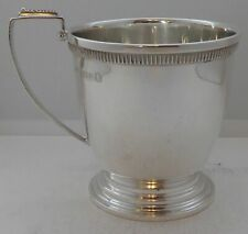 1934 Art Deco Hallmarked Solid Silver Christening Mug Tankard 109.4g