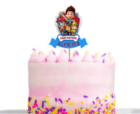 Personalised Paw Patrol Birthday Cake decoration Topper Any Name And Age