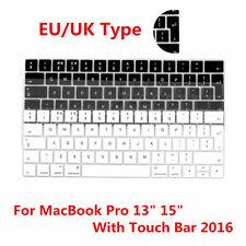 "EU/UK Type Soft Gel Keyboard Cover Skin For MacBook Pro 13"" 15 W/ Touch Bar 2016"