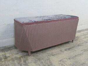 Vintage LLoyd Loom 'Lusty' Lilac or Lavendar Lidded Ottoman or Blanket Box