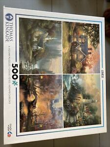 Thomas Kinkade - (4) 500 Piece Puzzles  New Sealed