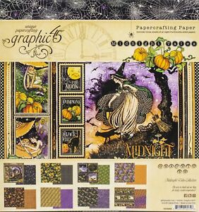 """Graphic 45 Double-Sided Paper Pad 8""""X8"""" 24/Pkg-Midnight Tales"""