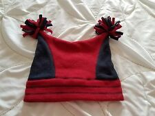 BABY GAP Boy's M/L 4-5 Years Red Blue Winter 100% Polyester Hat!!
