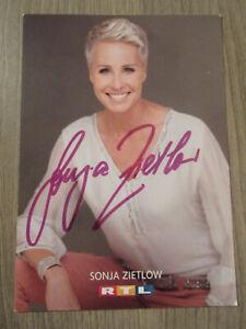 Sonja Zietlow original handsignierte Autogrammkarte / T2