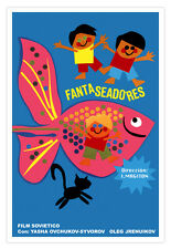 "Spanish Movie Poster 4""FANTASY Kids"" Children art film.Home and wall Decoration"